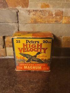 Vintage RARE PETERS Mallard Duck 20 Gauge Shotgun Shell Box (Empty)
