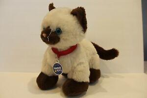 "Build-A-Bear Siamese Cat Himalayan Promise Pets 11"" Plush Red Collar"