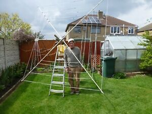 HF Cobweb Base Antenna covering 5 amateur bands