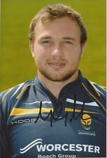 WORCESTER WARRIORS RUGBY UNION * MATT MULLAN SIGNED 6x4 PORTRAIT PHOTO+COA