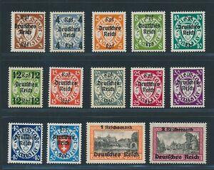 """DT. REICH 1939, Mi. 716-29 **, """"Danzig Abschied"""" kplt.!! Mi. 220,--!!"""