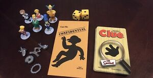 The Simpsons Clue Game Replacement Figures Weapons Cards 2002 Board Game Parts