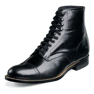 Stacy Adams Mens Madison Black Leather Dress Trending Ankle Medium And Wide Boot