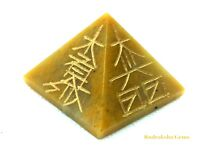 REIKI ENERGY CHARGED YELLOW JADE PYRAMID CRYSTAL POWERFUL NATURAL HEALING STONE