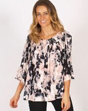 Rayon 3/4 Sleeve Casual Floral Tops & Blouses for Women