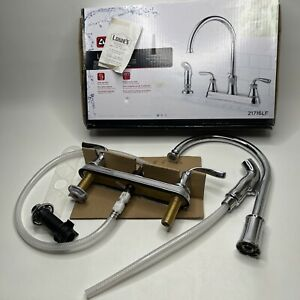 Delta Lorain Stainless 2-handle Deck Mount High-Arc Kitchen Faucet 21716LF
