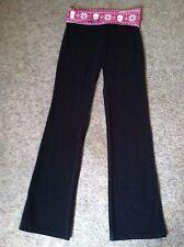 Victoria's secret pink yoga pants size S black w/skull not faded