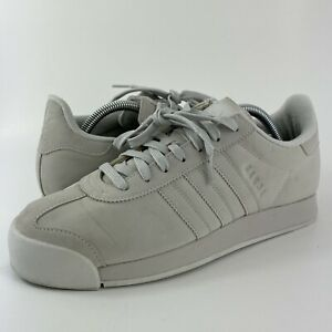Adidas Samoa Plus Grey Faux Suede Athletic Shoes BY3527 Women's Size 10