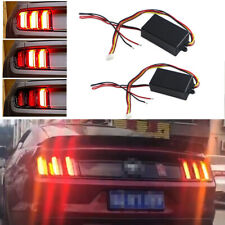2PCS 3-step Car Headlight Rear light Turn Signal Sequential Module Boxes System
