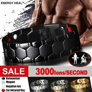 Health Care Weight Loss Magnetic Therapy Bracelet Pain Relief Energy Men Gift