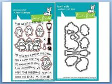 Lawn Fawn Photopolymer Clear Stamp & Die Combo HERE WE GO A-WADDLING ~1468,1469