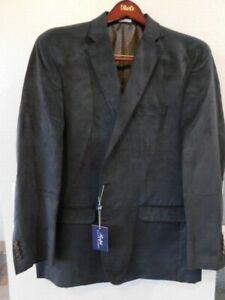 NWT Ralph Lauren Men's Classic-Fit Faux-Suede Sport Coat 50L Black