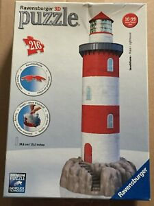 Ravensburger 3D Puzzle Lighthouse 216 Pieces Complete Indoor Family Activity