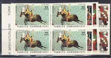 Turkey Scott 1763-1766 Mint NH blocks (Catalog Value $23.80)