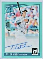 2018 Donruss Optic Rated Rookie TYLER WADE Autograph Turquoise Refractor SP /125