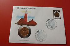 * numisbrief Gibraltar con 2 peniques 1990 * monedas de Gibraltar (alb14)