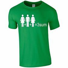 3Sum Threesome Funny Tee T-Shirt Top Tumblr Novelty Gift Xmas Secret Santa