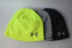 New Under Armour Mens UA ColdGear Infrared Emboss Beanie Reflective Run Hat OSFM