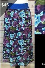 NWT LuLaRoe LLR 2XL LOLA Fully Lined Full Skirt Beautiful Blue And Purple VHTF