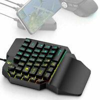 USB Kabel Einhand Gaming Tastatur Wunderschöne Backlit Mini 39 Tastatur Tas G0C5