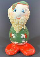 "Traditions ""N"" Stone Porcelana Santa 92-93 Original Christmas Figurine Signed"