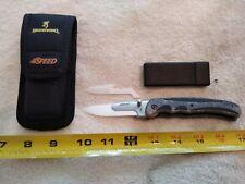 New listing New Browning Speed Folding Knife with 2 Ceramic blades & Nylon Sheath model 0117