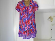 GORGEOUS SEE THROUGH CHIFFON TOP BY BONMARCHE IN VG CON SIZE 18 BUST 44-46