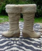 Faith beige suede leather boots UK size 6 EU 39