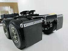 Tamiya 1/14 Semi Tractor Pair Rear Aluminum Hanger Mount w/ blank black Mud Flap