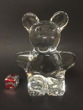 """More details for daum france signed clear crystal bear (6"""" tall) 🇫🇷"""