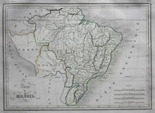 Original antique map BRAZIL, SOUTH AMERICA, 'Carte du Bresil', Malte-Brun, 1846