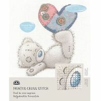 DMC Me to You Tatty Teddy Printed Cross Stitch Fabric Kit - Patchwork Heart