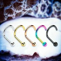 BASIC Ball Nose Studs Rose Gold Nose Piercing 20G Nose Ring Silver Nose Rings UK