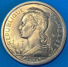 1964 France 1 Franc Reunion Winged Phrygian Marianne Head UNC Coin