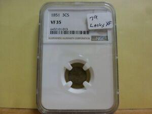 1851 Three Cent Silver NGC VF-30 #013