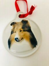 Xpres Sheltie Dog Christmas Tree Ornaments  Decorations 3 inches Brown White