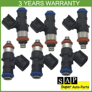 6X Fuel Injector For Ford Explorer Edge F-150 Mustang Lincoln MKS MKZ 0280158191