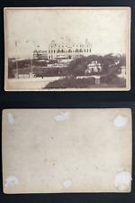 Boulogne sur Mer, le Casino  Vintage albumen print, carte cabinet.  Tirage alb