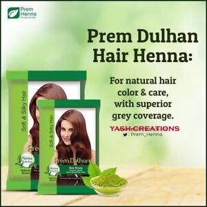 PREM Dulhan Hair Natural Heena 9 Herbs for Silky & Soft Hair 125 gm x (2 pack)