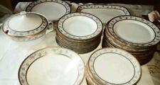antico servizio piatti porcellana bavaria bordo oro zecchino 40 pz decori fiori