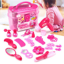 Pink Pricess Makeup Set Hairdressing Kids Girls Pretend Play Children Toy Gift
