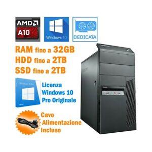 COMPUTER DESKTOP LENOVO THINKCENTRE M78 AMD A10-6700 WINDOWS 10 PRO-
