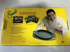 NEW EMERIL CAST IRON SIZZLE PLATE WITH TRIVET * ALL-CLAD *
