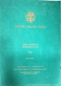 REGISTRO ITALIANO NAVALE - 1992 - VOLUME I