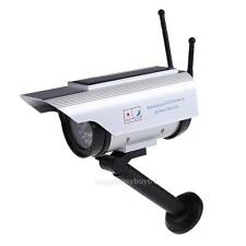 Solar Power Outdoor Dummy Fake LED Flashing Security Camera CCTV Surveillance