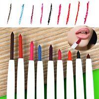 1x 9 Colors Professional Lipliner Makeup Lip Liner Pen Pencil Lasting Waterproof