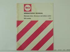Vintage 1971 BSA Motorcycle Operations Warranty Manual Bantam Twin Single L1647