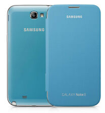 Genuine Samsung Brand Flip Open Book Case for Samsung Galaxy Note 2 NFC Blue