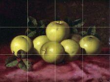 Green Apples Tile Mural Kitchen Bathroom Wall Backsplash Art 24x18