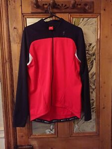 Specialized  red and black long sleeve cycling shirt XL, VGC